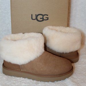 UGG MINI SHEARLING CUFF SUEDE BOOTS NEW!